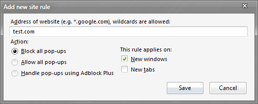 Adblock Plus Pop-up Addon
